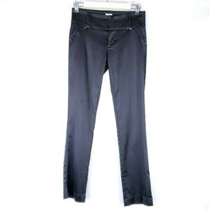 Cache Black Faux Leather Mid Rise Stretchy Pants